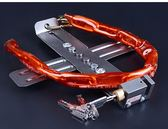 年終大清倉玥瑪電瓶鎖踏板鎖電動車電池鎖防盜鎖十字型加粗鏈條可調節電瓶鎖