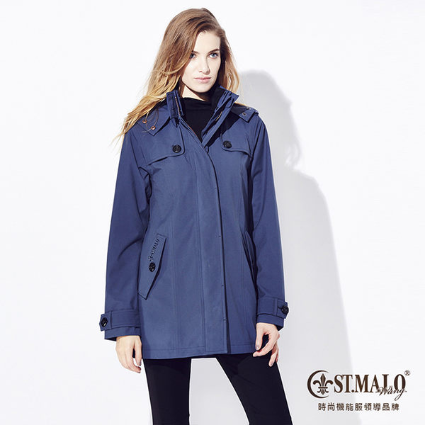 【ST.MALO】Sympatex珍稀羊駝長大衣-1533WJ-午夜藍