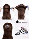盤髮器 丸子頭盤髮器懶人扎頭髮飾韓國花苞頭飾女百搭花朵神器髮夾後腦勺 店慶降價