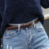 皮帶女士復古小皮帶細裝飾牛仔褲黑色腰帶女酷ins風簡約百搭女生褲帶【全館免運】