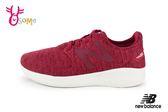New Balance 慢跑鞋 女童 鬆緊帶 輕量運動鞋 O8403#酒紅◆OSOME奧森童鞋
