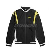 Nike 外套 NSW Woven Jackets 黑 綠 男款 防風外套 立領 運動休閒 【ACS】 CJ4922-010