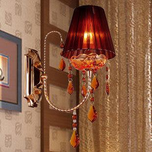 水晶奢華現代簡約壁燈咖啡色
