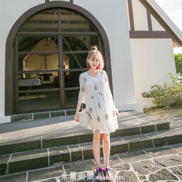 普吉島沙灘裙女大碼巴厘島三亞泰國海邊度假顯瘦白色超仙洋裝子 「米蘭街頭」