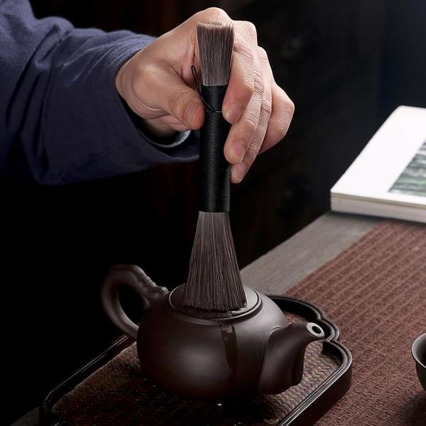 黑檀實木六君子創意小時光茶道功夫茶具配件整套家用