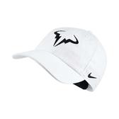 Nike 帽子 Arobill H86 Tennis Cap 白 黑 白底黑Logo Nadal 網球帽 納達爾【PUMP306】 850666-101