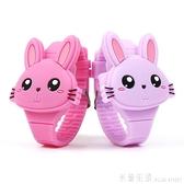 兒童手錶 兒童手表女學生電子表玩具表卡通手表2-6歲兔子玩具抖音禮物