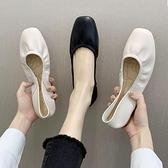 平底單鞋女春季2021新款奶奶鞋網紅軟底孕婦鞋蛋卷豆豆鞋春款潮鞋 童趣屋
