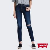 Levis 女款 721 高腰緊身窄管牛仔褲 / Orta歐洲丹寧 / 彈性柔軟布料 / 毛鬚開口破壞