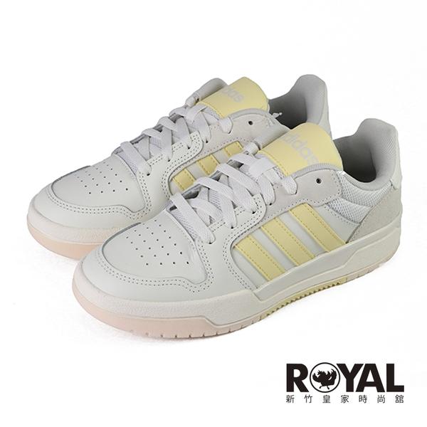 Adidas Entrap 米色 皮質 運動休閒鞋 女款 NO.J0623【新竹皇家 FW3494】