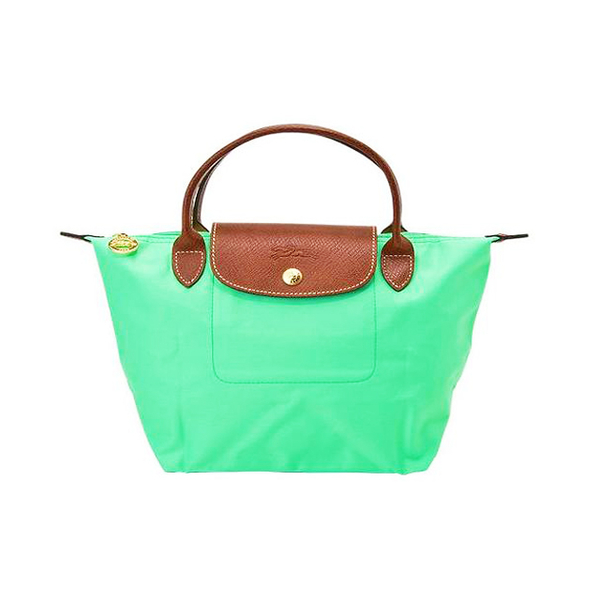 Longchamp 法國經典摺疊水餃包(M短把/棕櫚綠)