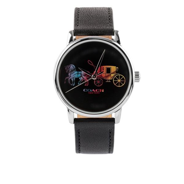 【COACH】彩色馬車圖案女錶(黑色) 14503585