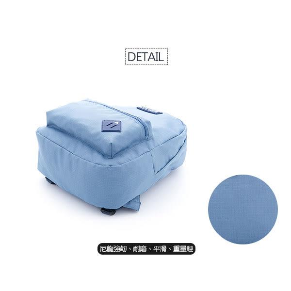 美國 AIRWALK 極簡輕生活 格紋尼龍防潑水後背包 -中藍