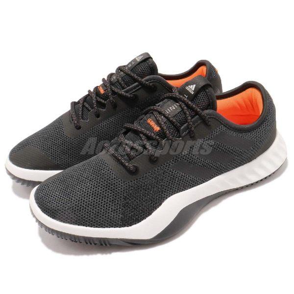 【六折特賣】adidas 訓練鞋 CrazyTrain LT W 黑 橘 低筒 緩震 健身專用 女鞋 運動鞋【PUMP306】 CG3496