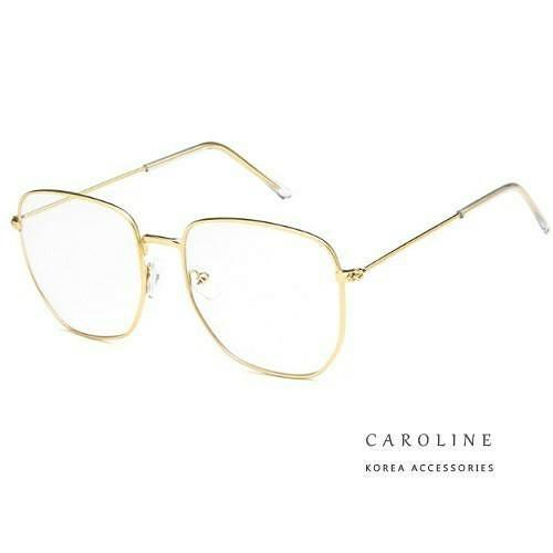《Caroline》年度最新款復古多邊形 文藝大框平光眼鏡 71976