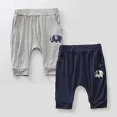 小象可愛圖案柔軟材質七分褲子 童裝 褲子