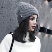 帽子秋冬天女韓國潮?百搭休閒韓版冬季英倫時尚保暖毛線帽月子帽
