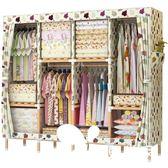 衣櫥 雙人簡易衣柜布藝布衣柜實木牛津布簡約現代經濟型收納衣櫥非鋼架