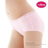 六甲村 彈力棉平口孕婦褲 粉色   XL  ( 2件入)【德芳保健藥妝】