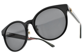 GUCCI太陽眼鏡 GG0416SK 002 (黑綠紅綠-漸層灰藍鏡片) 經典配色LOGO款 # 金橘眼鏡
