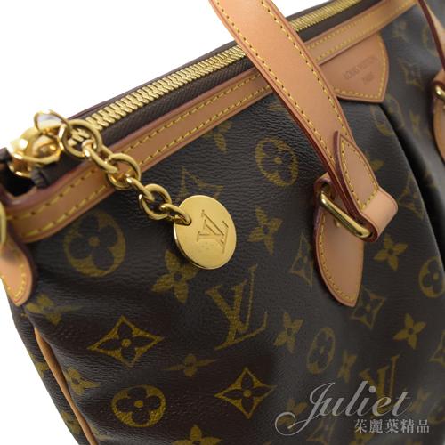 茱麗葉精品 二手精品【9成新】Louis Vuitton M40145 PALERMO PM 經典花紋兩用購物包.小
