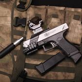 格洛克G18可回膛水彈槍 真人cs仿真水晶彈玩具槍 電動連發水蛋槍 雲雨尚品