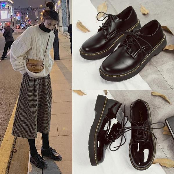 英倫風小皮鞋女2020春季新款學生韓版百搭jk復古平底黑色日系單鞋 時尚芭莎