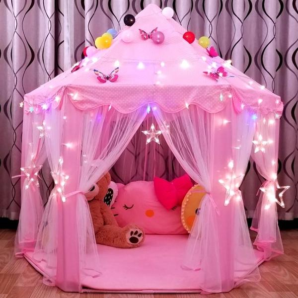 兒童帳篷室內公主娃娃玩具屋超大城堡過家家游戲房子女孩分床神器 「免運」