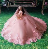 玩具新娘閨蜜芭比婚紗娃娃公主大裙拖尾