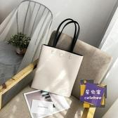 托特包 時尚女包2019新款韓版軟皮托特包學生百搭簡約大容量單肩手提包潮 10色 交換禮物
