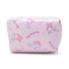 小禮堂 美樂蒂 方形防水化妝包 盥洗包 小物包 隨身收納包 (粉紫 滿版) 4550337-73489