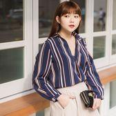 Poly Lulu 簡約配色條紋上衣短裙套裝-杏【91280094】