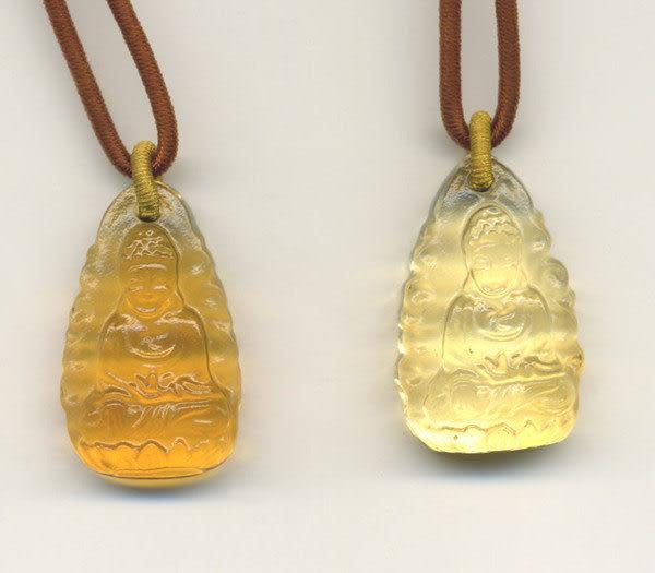 鹿港窯~居家開運水晶琉璃項鍊~如來 附精美包裝◆免運費送到家