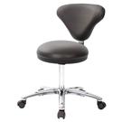 GXG 立體圓凳加椅背 工作椅 (寬鋁腳+防刮輪) 型號81T2 LU1X
