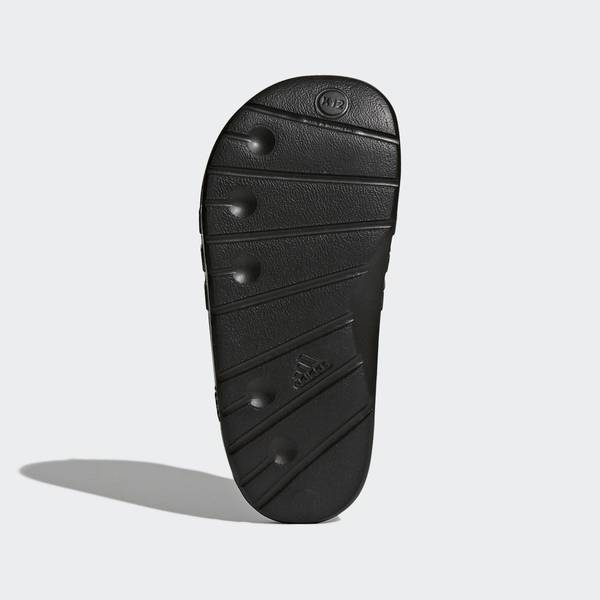 Adidas Duramo Slide K [G06799] 大童鞋 運動 涼鞋 拖鞋 休閒 舒適 輕量 黑 愛迪達