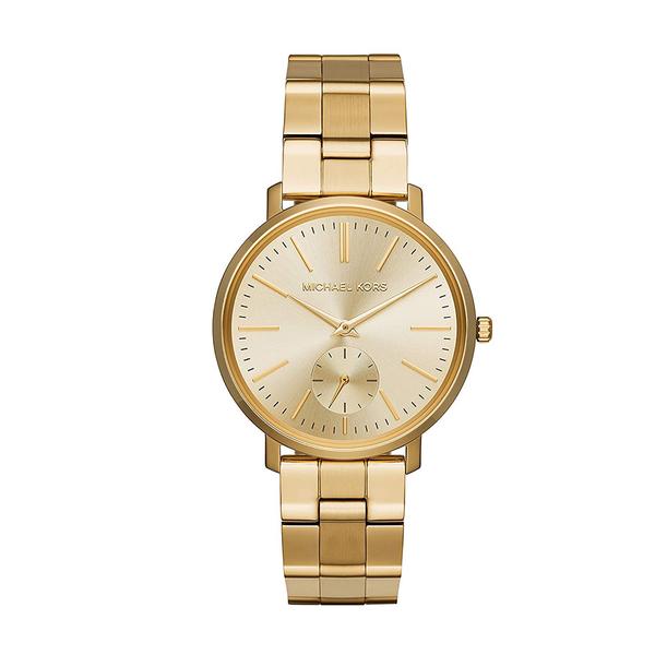 【MICHAEL KORS】37mm金面小秒指針腕錶 MK3500