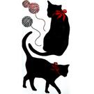 【收藏天地】創意生活*彩色裝飾壁貼-黑貓