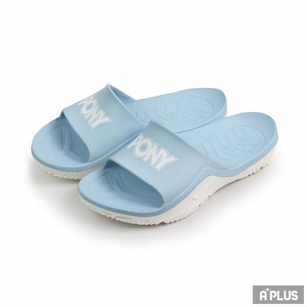 PONY 女 粉藍色 拖鞋 - 92U1FL07PB
