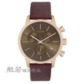 LOVME  個性時尚手錶-玫瑰金x咖