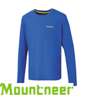 【Mountneer 山林 男 透氣排汗長袖上衣 寶藍】 21P25/排汗衣/運動T恤/休閒衫