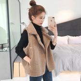 外套 2019冬季新款韓版坎肩絨背心短款羊羔毛馬甲外套女網紅外穿馬夾潮