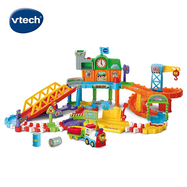 Vtech 嘟嘟車系列-皇家建築電動火車鐵道組 (電動車)