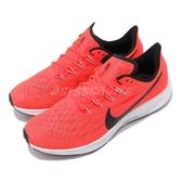 Nike 慢跑鞋 Air Zoom Pegasus 36 紅 灰 透氣工程網面 氣墊避震 男鞋【PUMP306】 AQ2203-600