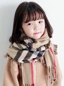 兒童寶寶圍巾女童春秋冬季韓版小孩格子薄款男童保暖兒童潮圍脖套