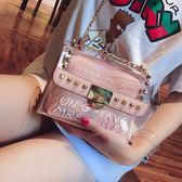 果凍包小包包女夏天新款潮百搭韓版透明鏈條單肩斜挎包【感恩父親節全館78折】