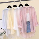 防曬衣女 熱賣夏季 新款超薄款防紫外線 冰絲雪紡開衫春秋外套 流行女裝 多色可選 薄襯衫 襯衫