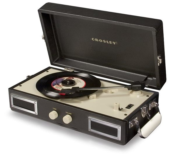 ::bonJOIE 預購:: Crosley Mini Turntable 黑色款 迷你手提箱黑膠播放機 可攜式 攜帶型 唱盤 音響 音箱