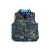 Gap男幼童 男幼童柔軟保暖無袖保暖棉背心473797-綠色迷彩