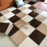 方塊地毯 絨面地墊拼接臥室滿鋪床邊地毯茶幾方塊拼圖榻榻米