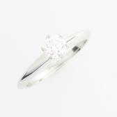 Tiffany & Co 蒂芬妮 0.25克拉鑽石六爪鉑金戒指 PT950 號 【二手名牌BRAND OFF】